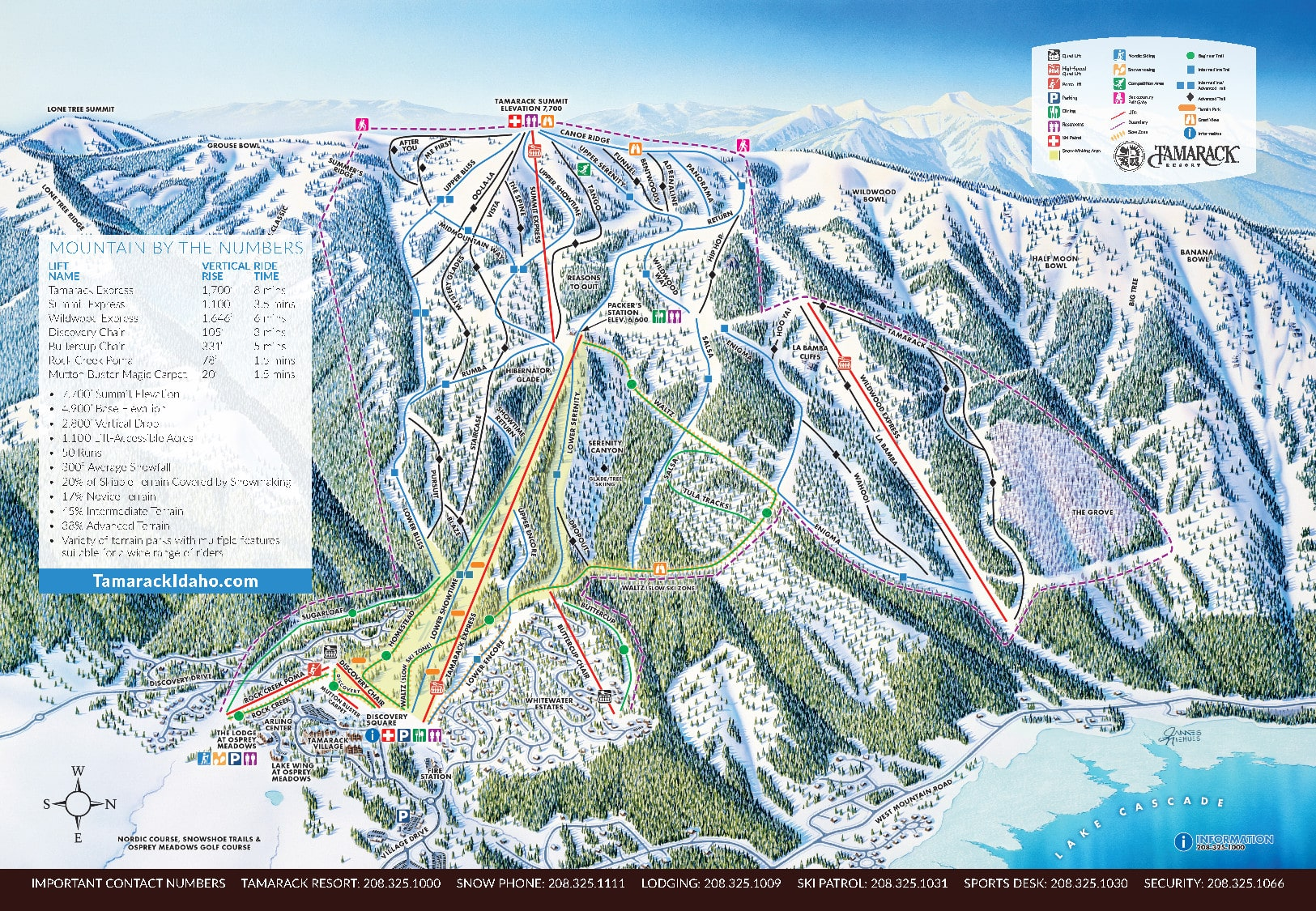 Tamarack Piste / Trail Map