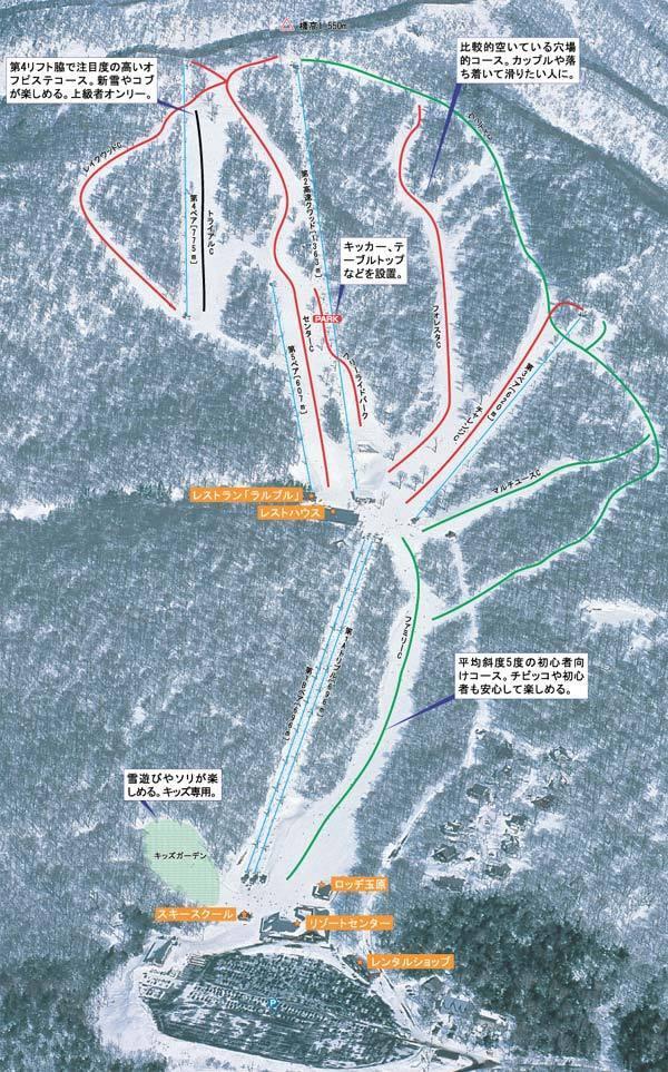 Tanbara Piste / Trail Map
