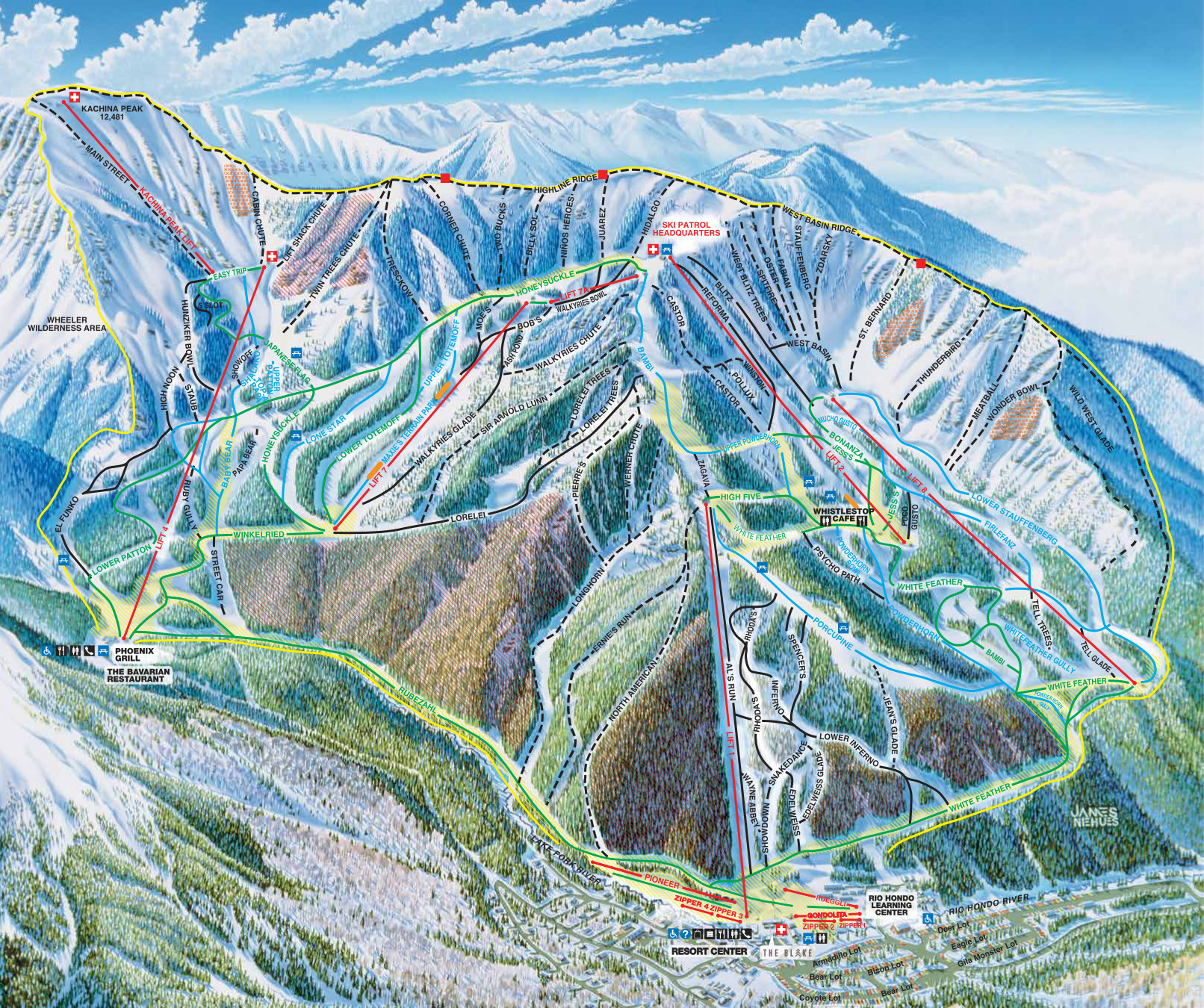 Taos Piste / Trail Map