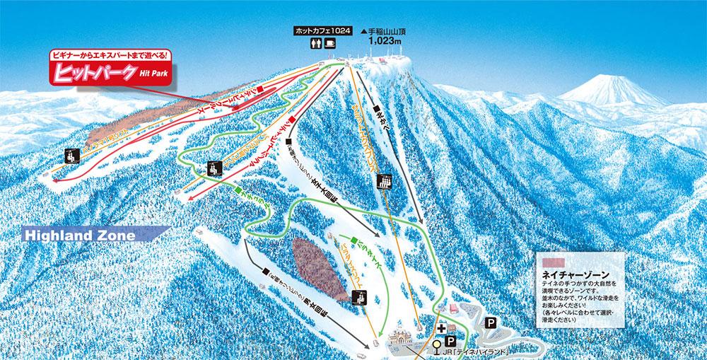 Sapporo Teine Piste / Trail Map