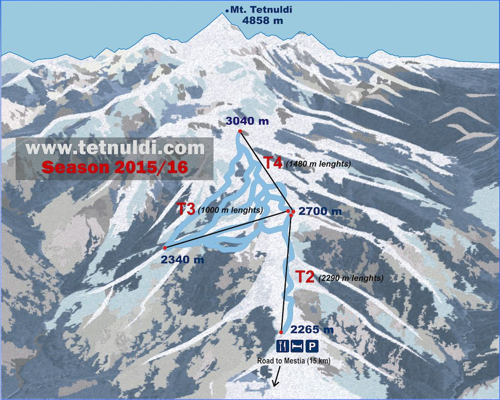 Tetnuldi Piste / Trail Map