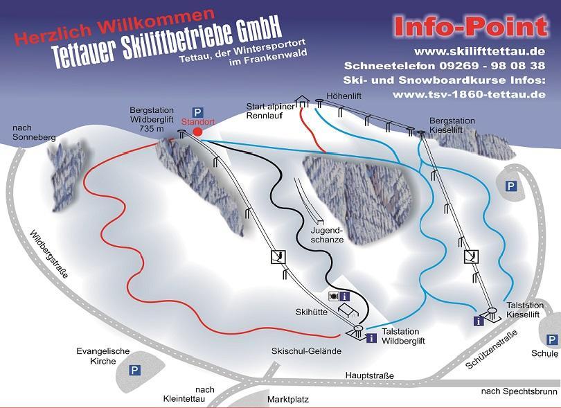 Tettau Piste / Trail Map