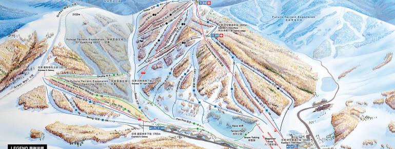 Thaiwoo Ski Resort Piste / Trail Map