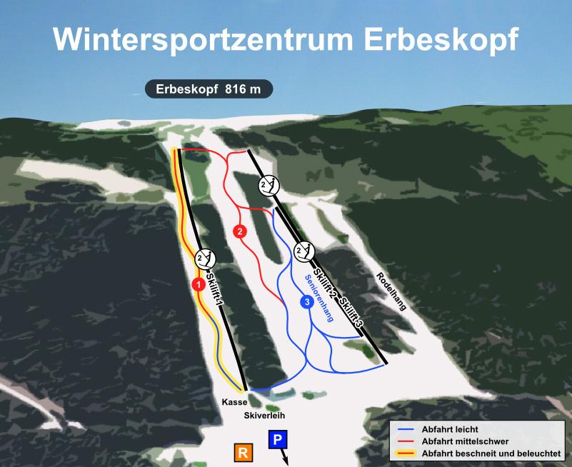 Thalfang/Erbeskopf Piste / Trail Map