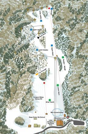 The Homestead Ski Area Piste / Trail Map