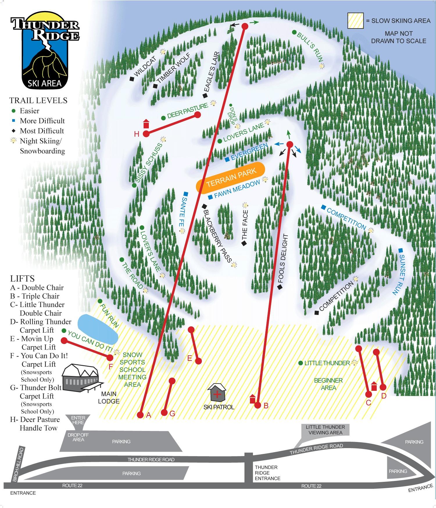 Thunder Ridge Piste / Trail Map
