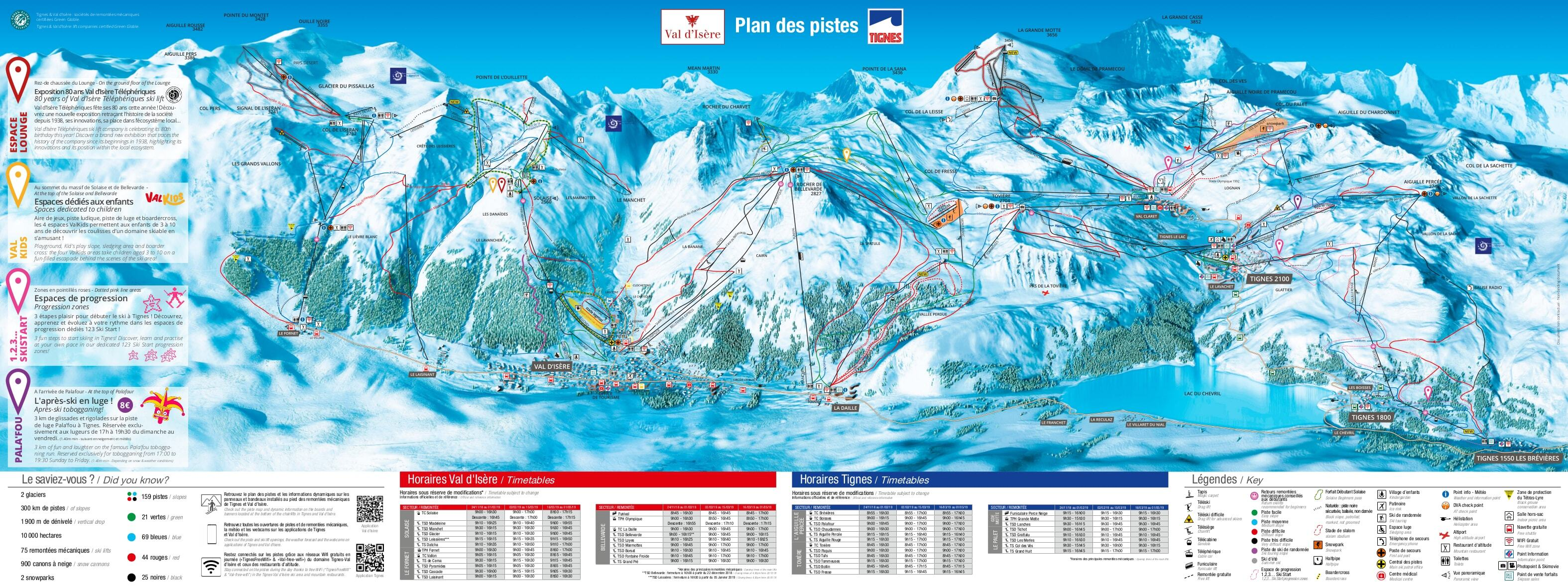 Tignes Piste Map Trail Map