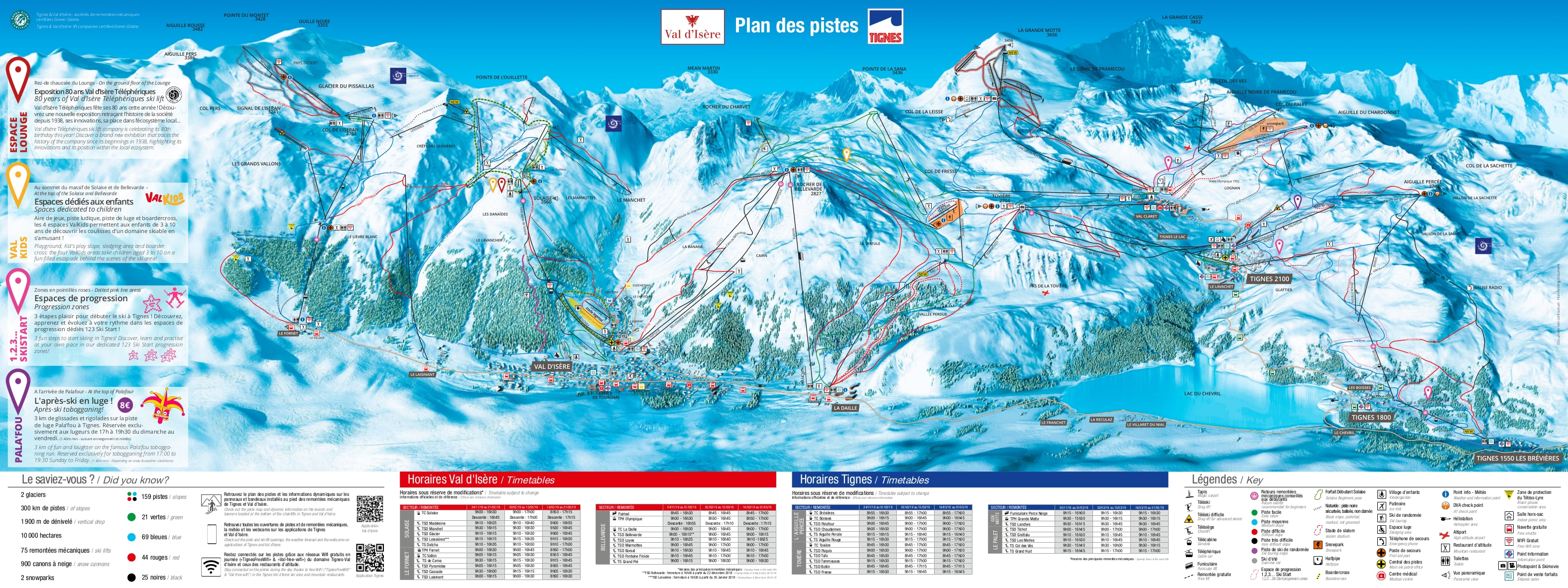 Tignes Ski Map Tignes Piste Map / Trail Map