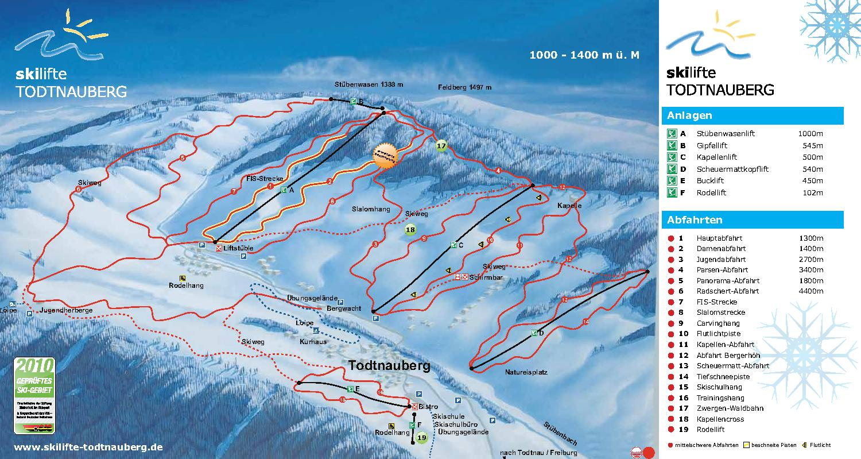Todtnauberg Piste / Trail Map