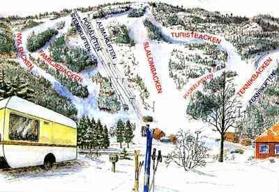 Tolvmannabacken Piste / Trail Map