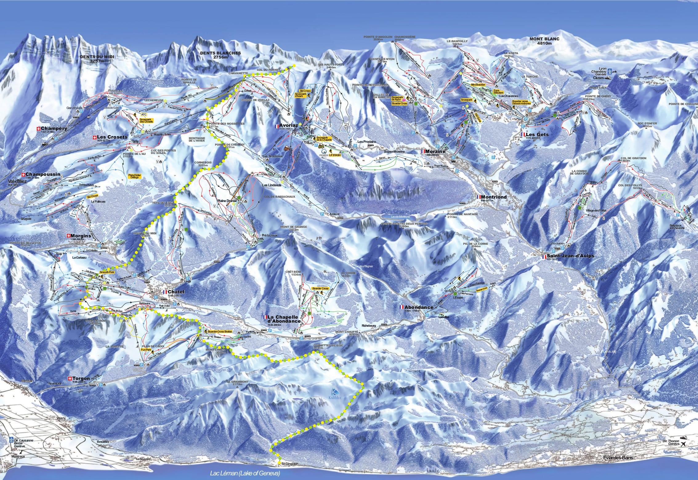 Torgon-Les Portes du Soleil Piste / Trail Map