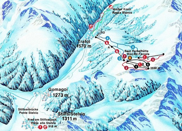 Trafoi Piste / Trail Map