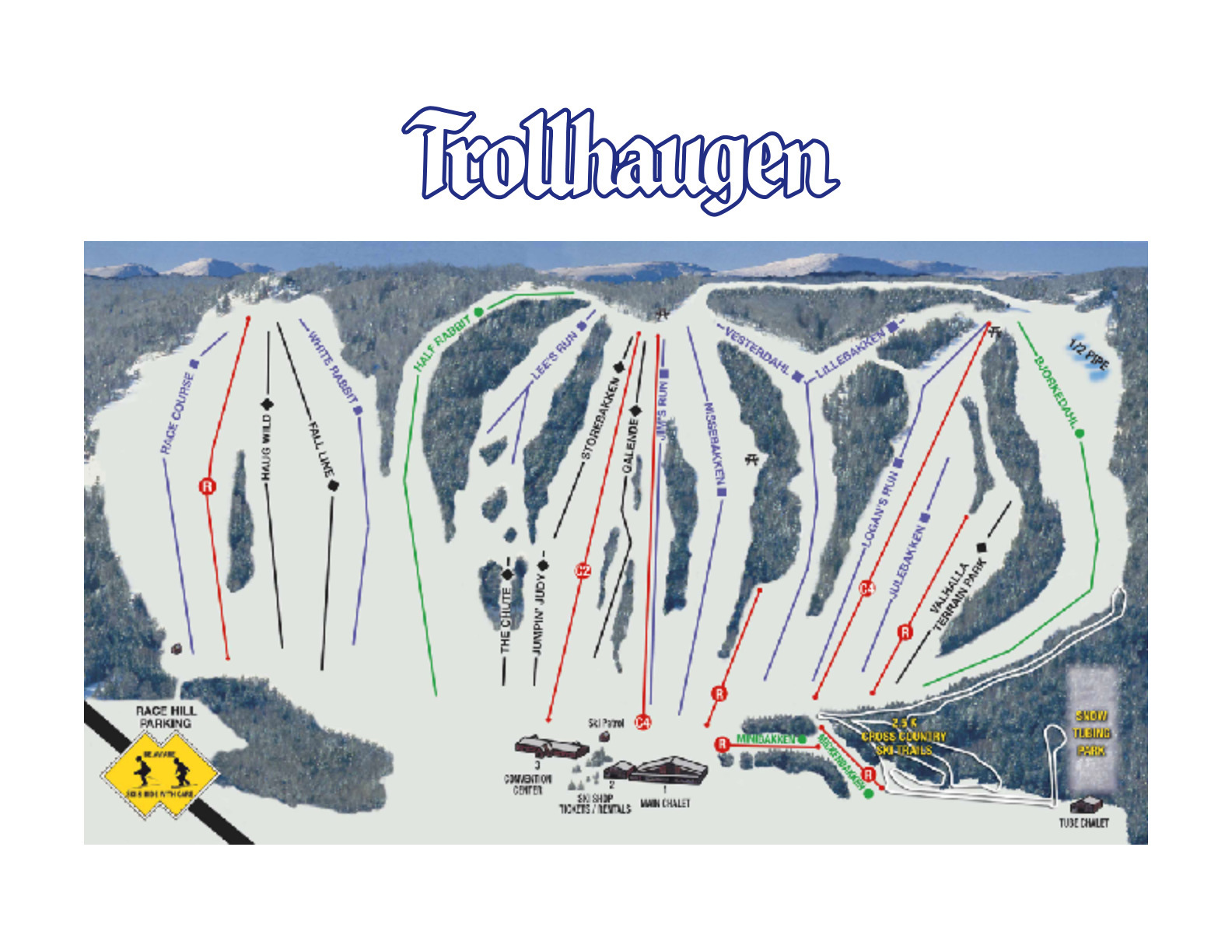 Trollhaugen Piste / Trail Map