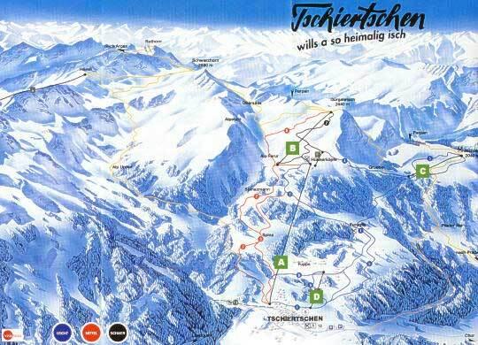 Tschiertschen Piste / Trail Map