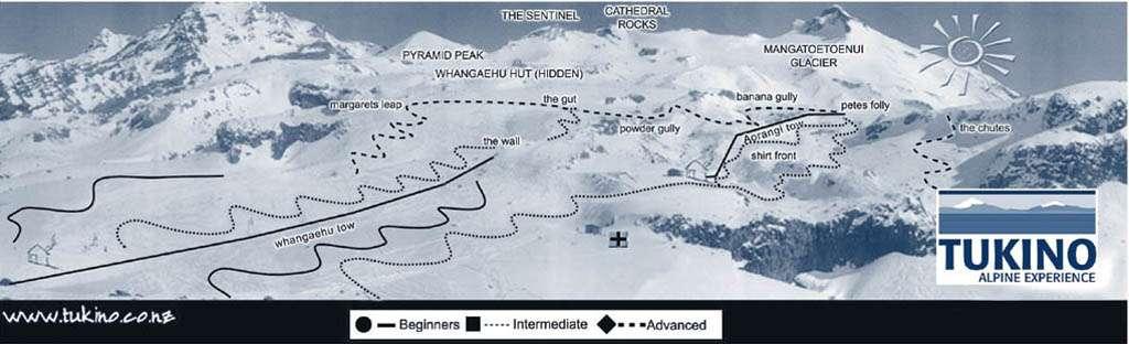 Tukino Piste / Trail Map