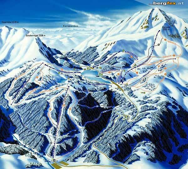 Turracher Höhe Piste / Trail Map