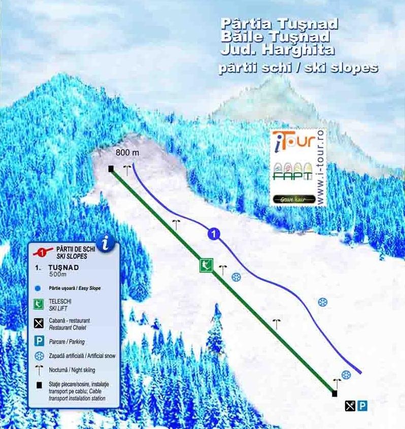 Tuşnad Băi Piste / Trail Map