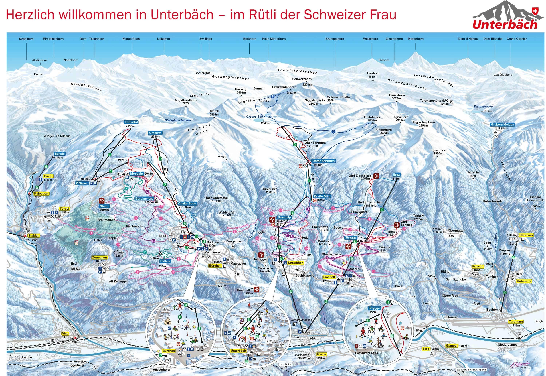 Unterbäch Piste / Trail Map
