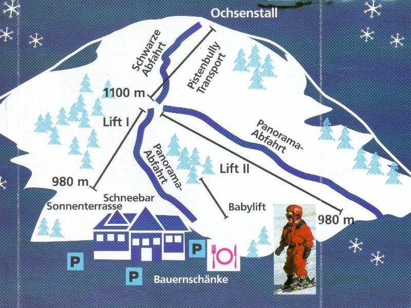 Unterstmatt Piste / Trail Map