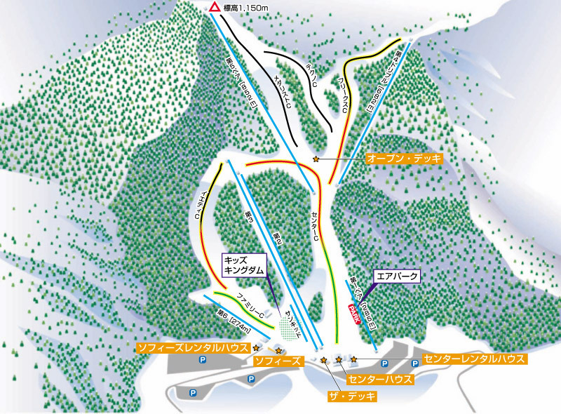 Utopia Saioto Piste / Trail Map