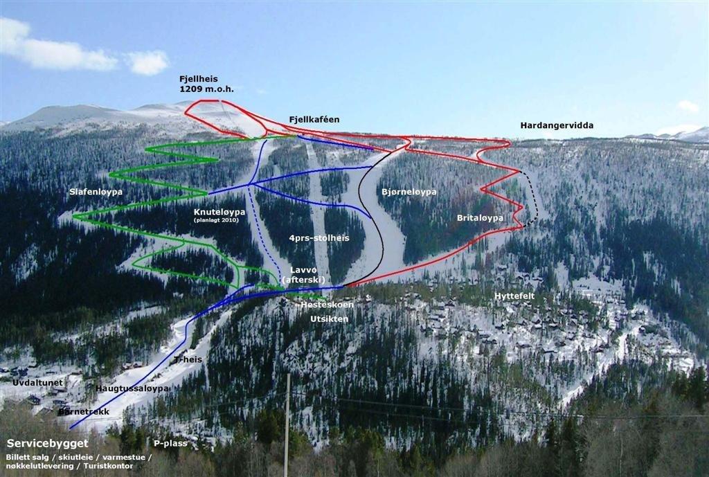 Uvdal Piste / Trail Map