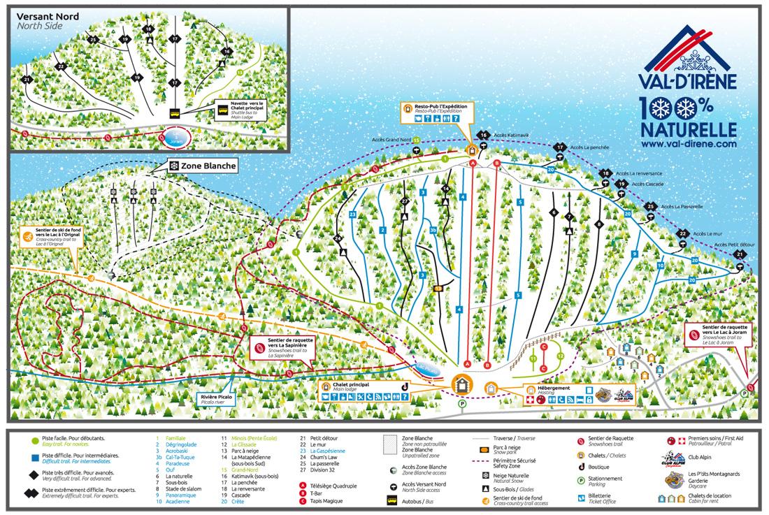 Val d'Irène Piste / Trail Map