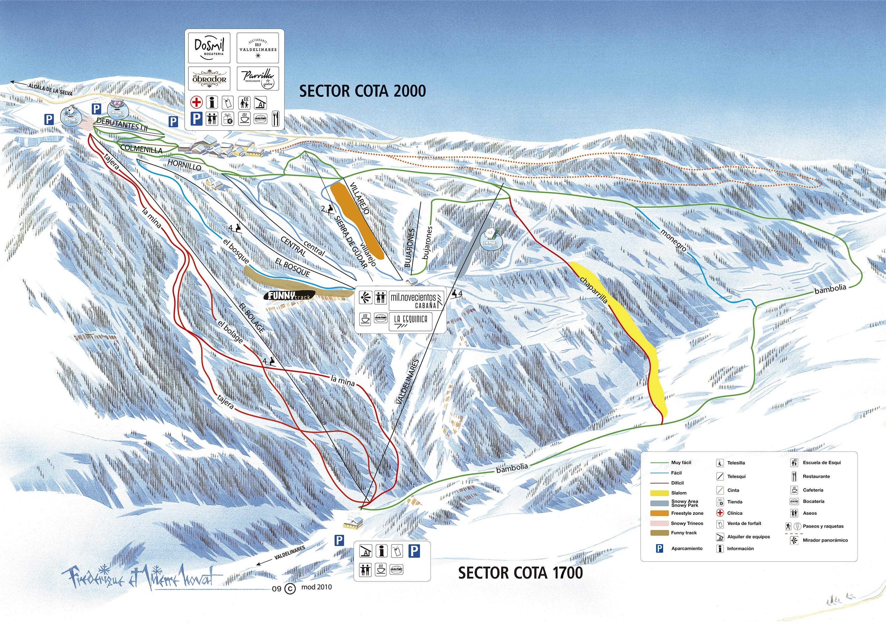 Valdelinares Piste / Trail Map