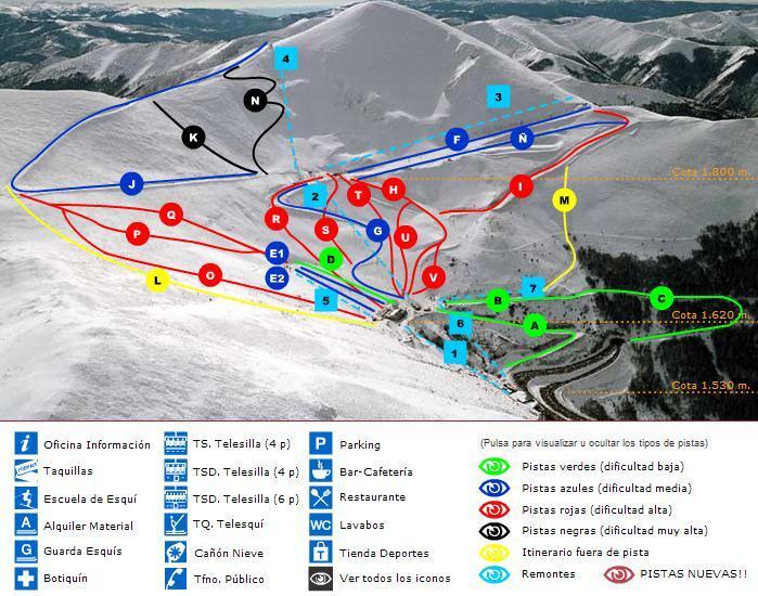 Valdezcaray Piste / Trail Map
