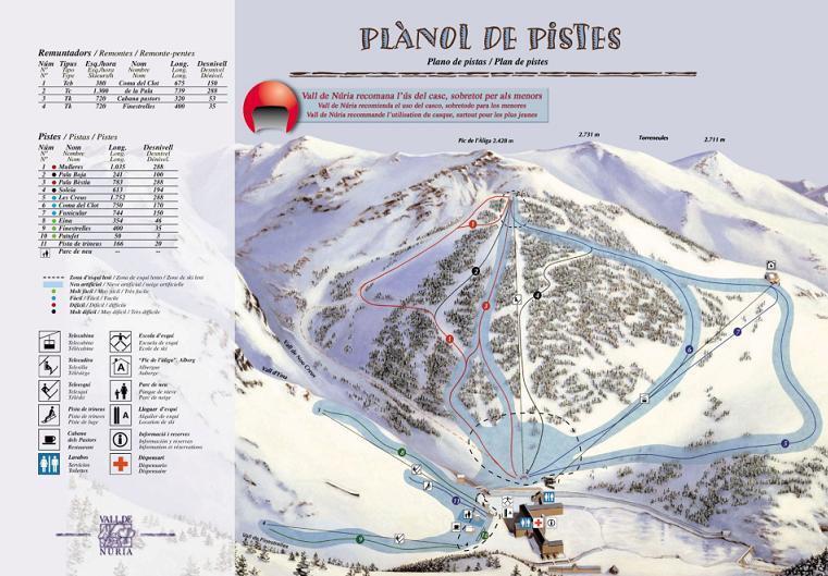 Vall de Núria Piste / Trail Map