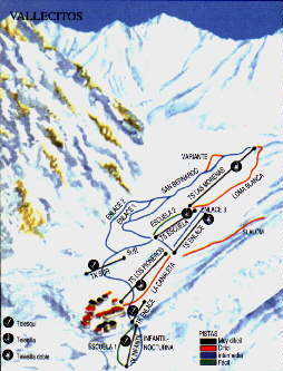 Vallecitos Piste / Trail Map