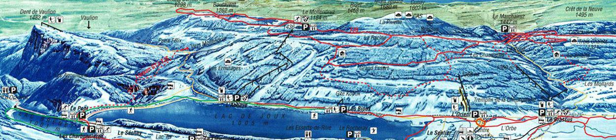 Vallée de Joux Piste / Trail Map