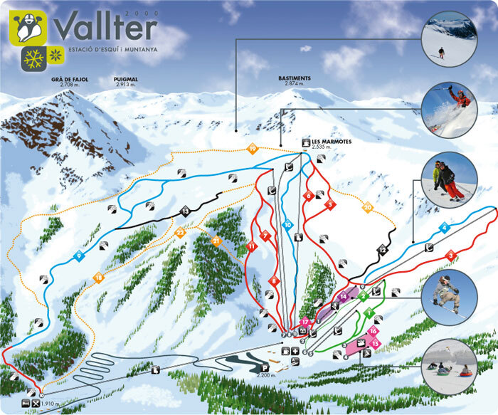 Vallter 2000 Piste / Trail Map