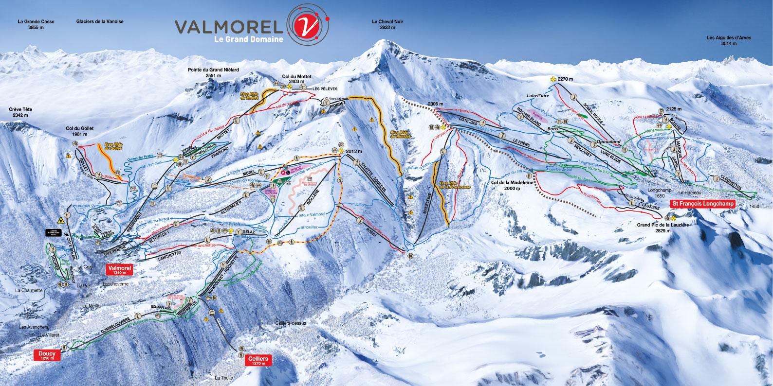 Valmorel Piste / Trail Map