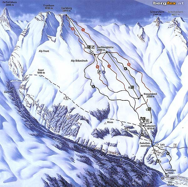 Vals Ski Resort Guide, Location Map & Vals ski holiday accommodation
