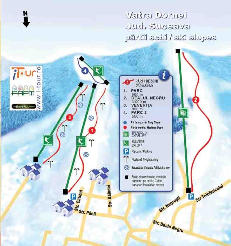 Vatra Dornei Piste / Trail Map