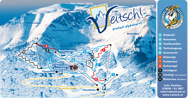 Veitsch Piste / Trail Map