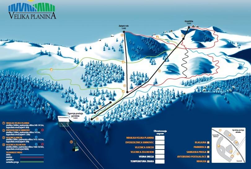 Velika Piste / Trail Map