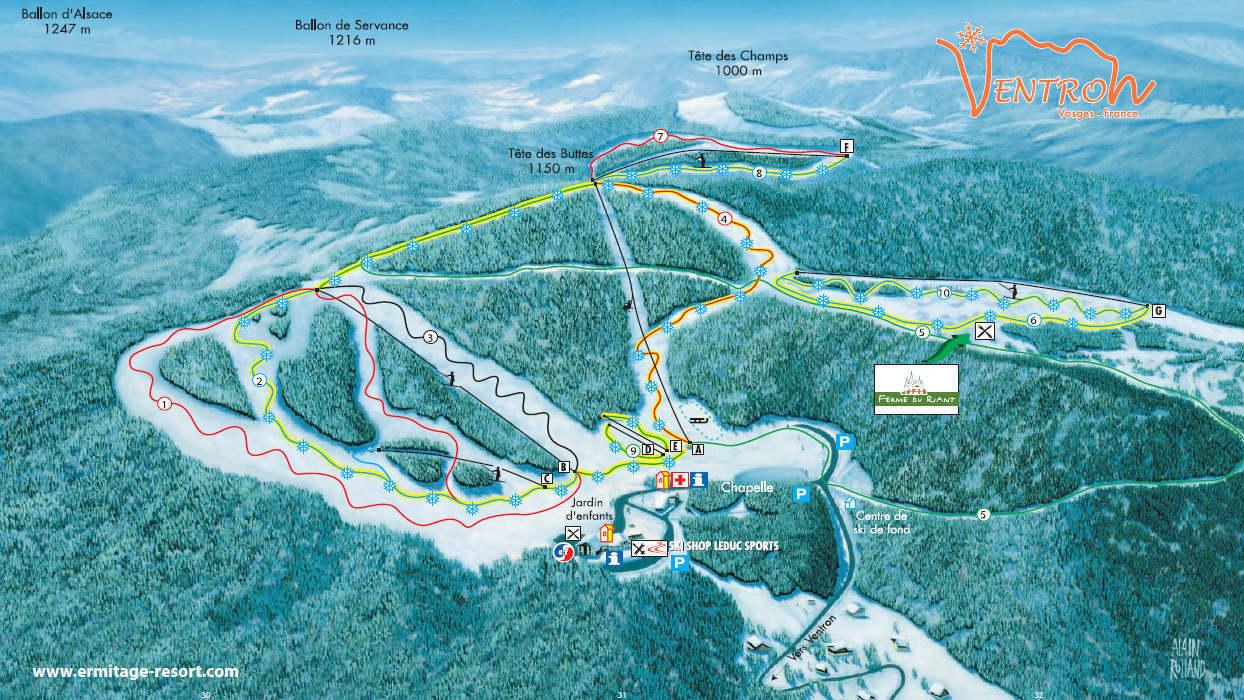 Ventron Piste / Trail Map