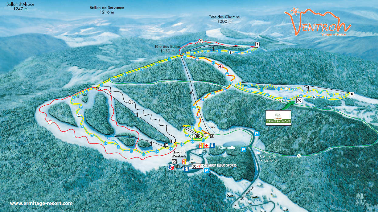 Ventron Piste / Trail Map