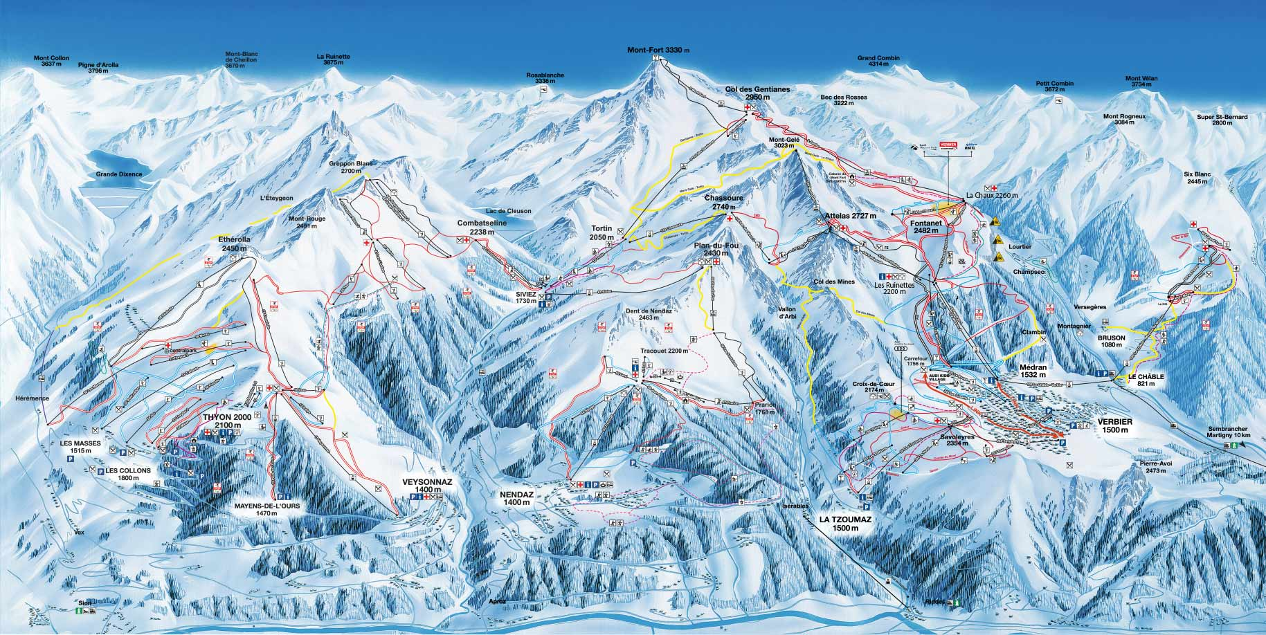 Verbier Piste / Trail Map