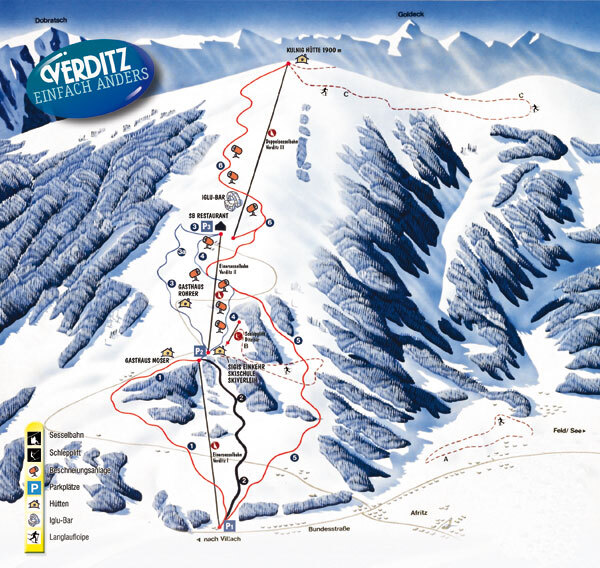 Verditz Piste / Trail Map