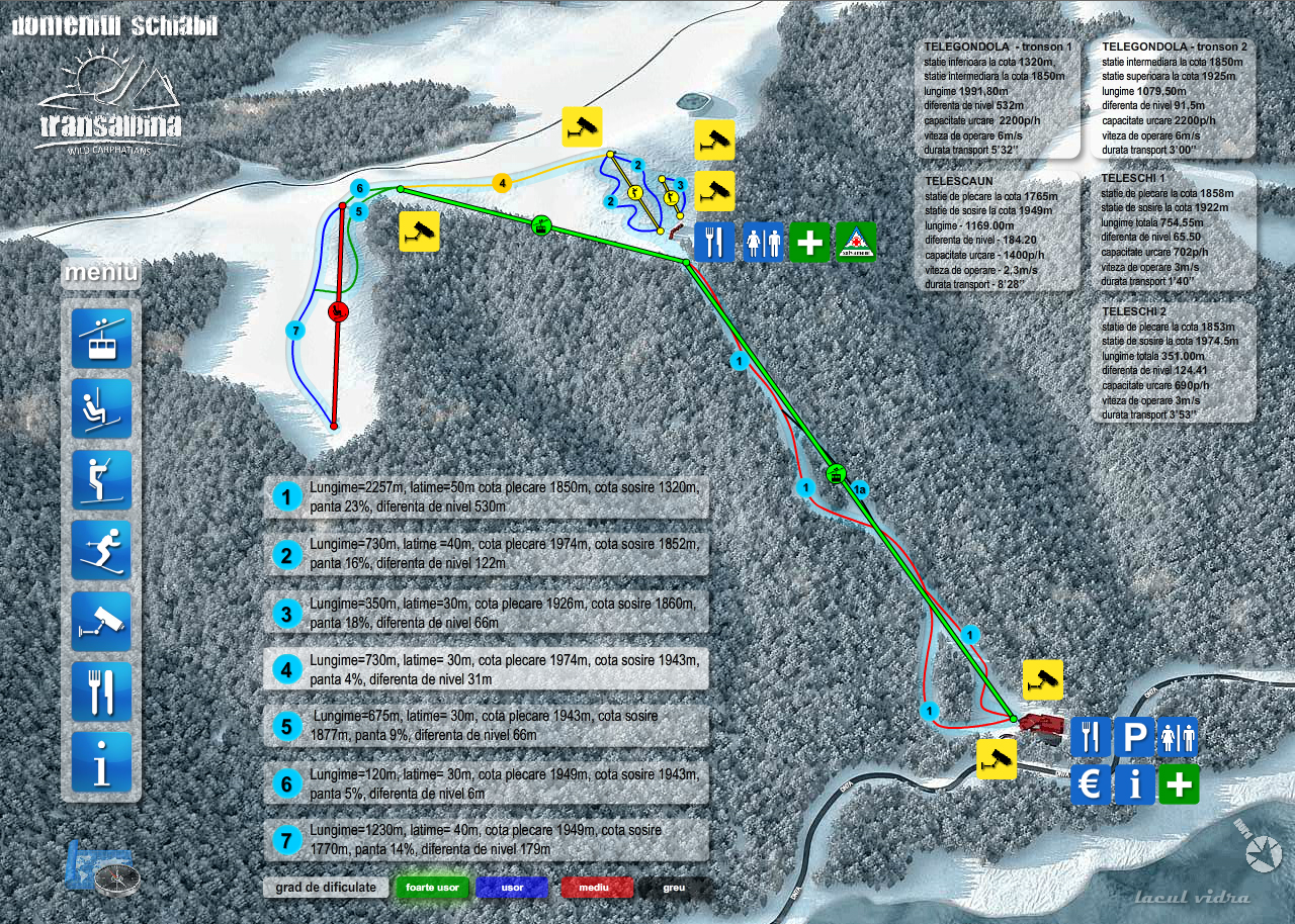 Vidra Transalpina Piste / Trail Map