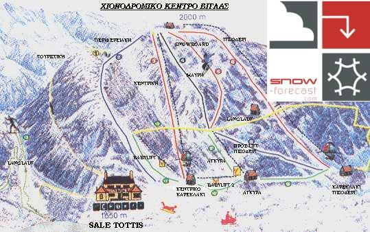 Vigla Pisoderi Piste / Trail Map