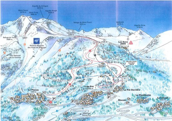 Villaroger Ski Resort Guide Location Map Villaroger ski holiday