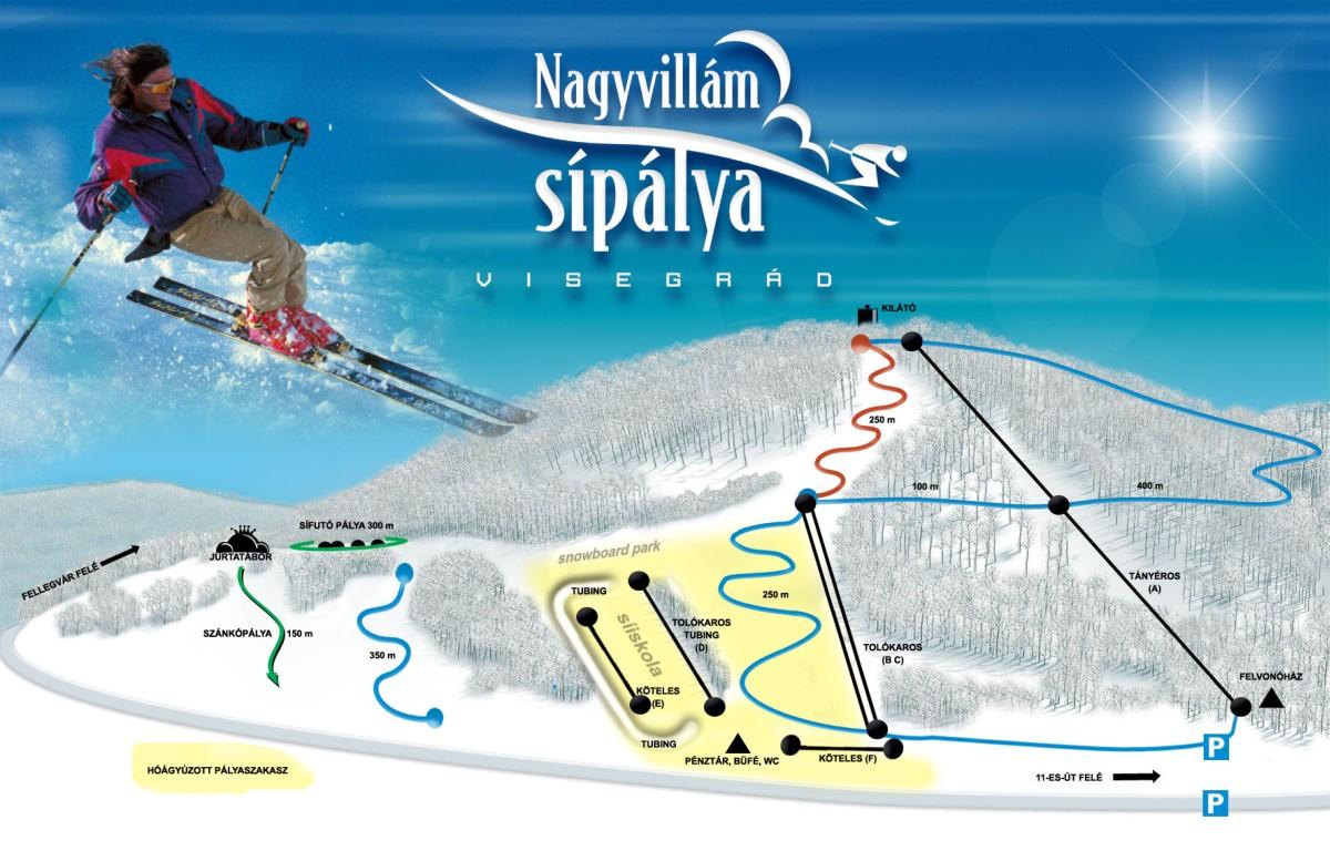 Visegradi-Nagy-Villám Piste / Trail Map