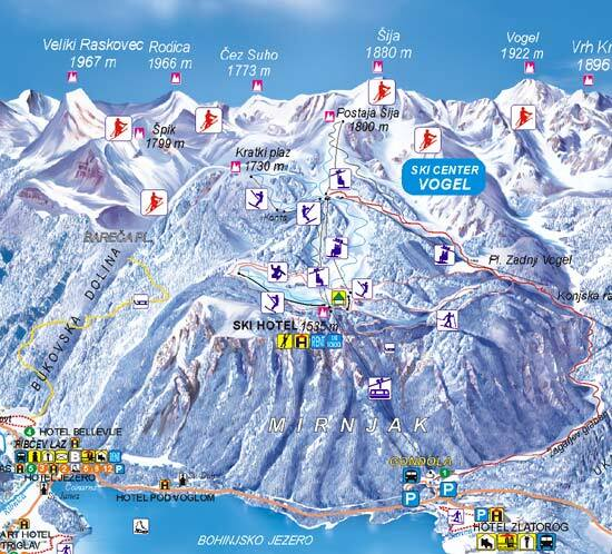 Vogel Piste / Trail Map