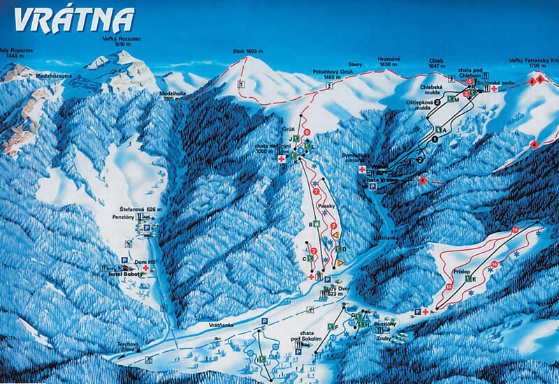 Vratna Dolina Piste / Trail Map