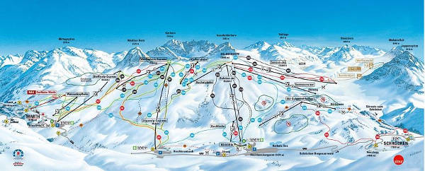 Warth-Schröcken Piste / Trail Map