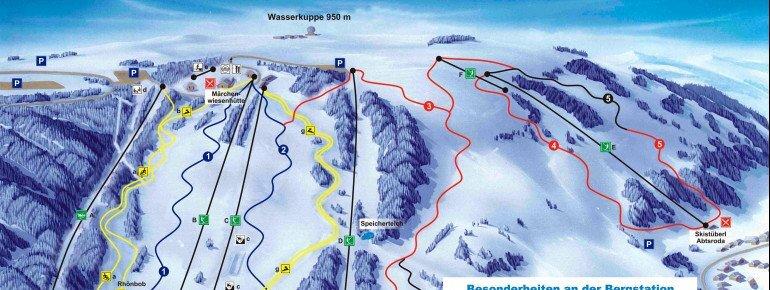 Wasserkuppe Piste / Trail Map