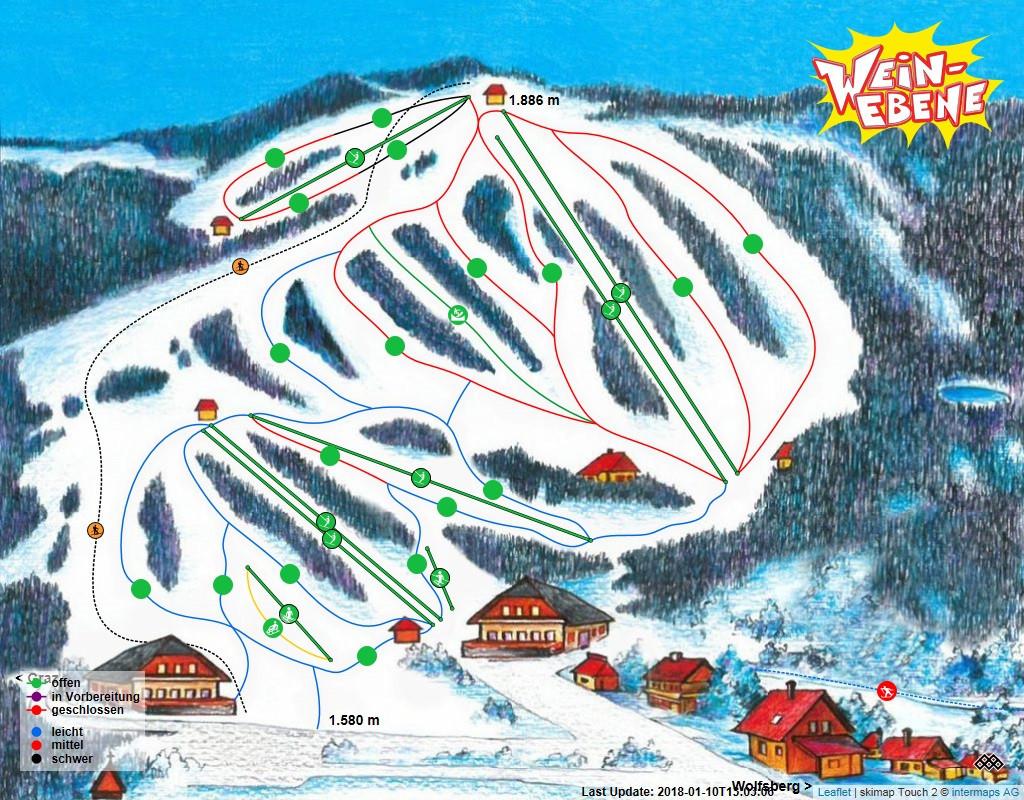 Weinebene Piste / Trail Map